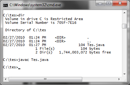 how to run java program in command prompt