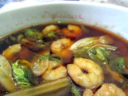 shrimps in oyster sauce